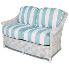 Lloyd Flanders Calypso Wicker Love Seat - SPECIAL OPPORTUNITY BUY by Lloyd Flanders. $1199.99. Lloyd Loom one of a kind all-weather wicker. Read more. Wicker is reinforced with aluminum wire for added strength. Comfort Plush Cushions covered in several fabrics including Sunbrella. Additional exclusive Lloyd Loom finishes are available. Comfort Plush premium deep seating. Read more. The Lloyd/Flanders Calypso collection features urban style and all-weather strength. This p...
