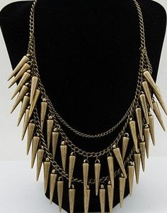 Fun rivet necklace!