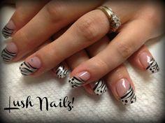 White stripping! by Twinabobina - Nail Art Gallery nailartgallery.nailsmag.com by Nails Magazine www.nailsmag.com #nailart