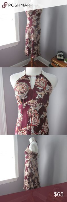 LOFT Silk Halter Dress New with tags! Lovely paisley print halter dress. 100% silk. Poly lined. Bust 15.5 inches. Length approx 36 inches shoulder down.   Bundle for best deals! Hundreds of items available for discounted bundles! You can get lots of items for a low price and one shipping fee!  Follow on IG: @the.junk.drawer LOFT Dresses