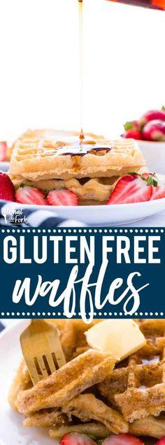 Easy Gluten Free Waffles Recipe Easy Brunch Recipes, Gluten Free Recipes For Breakfast, Waffle Recipes, Easy Healthy Recipes, Brunch Ideas, Breakfast Waffles, Breakfast Casserole Easy, Free Breakfast, Eggo Waffles