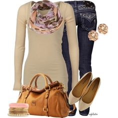 Cute comfy outfit and could easily be put together for much cheaper :)