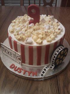 Movie Night Birthday 13th Birthday Parties, Birthday Cake Girls, 16th Birthday, Birthday Ideas, Movie Cakes, Cupcake Cakes, Cupcakes, Sweet 16 Cakes, Sleepover Party