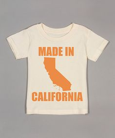 This Natural 'Made in California' Organic Tee - Toddler by Morado Designs is cool