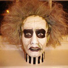 Original Handpainted gothic BEETLEJUICE movie halloween gentleman Mannequin doll display fashion head.