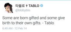 Tablo's quoting himself
