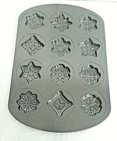 Wilton 12 Cavity Cookie Candy Baking Pan Non Stick Winter Christmas Snowflakes Christmas Snowflakes, Winter Christmas, Cooking Supplies, Cavities, Baking Pans, Candy, Cookies, Ebay, Crack Crackers