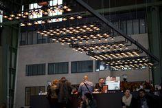 Lighting by PSLab for Qubique Trade Show on Streetlights Light Installation, Berlin.