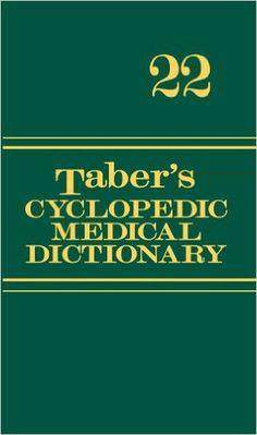 Taber's Cyclopedic Medical Dictionary (Thumb-indexed Version) (Taber's Cyclopedic Medical Dictionary (Thumb Index Version)): Donald Venes: 9780803629776: Amazon.com: Books
