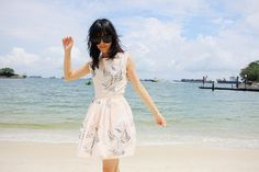 Ting from BenLovesTing- kills it on the beach in our sailboat dress
