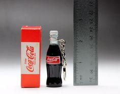 "Coca Cola Red Label 2.5"" Mini Bottle Keychain Key Ring Original Box Coke Japan #CocaColaJapan"