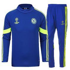 Destockage Champions league survetement equipe de foot Chelsea Bleu 2014 2015