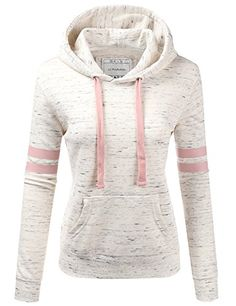 NINEXIS Womens Long Sleeve Terry Hoodie Double Arm Line P... Teen Fashion Outfits, Winter Outfits, Coats For Women, Clothes For Women, Comfy Casual, Look Cool, Cute Outfits, Hoodie Sweatshirts, Hoody