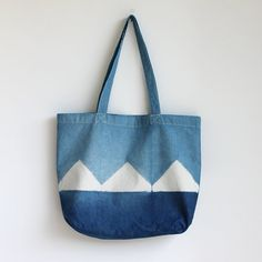 Naturally Dyed Organic Cotton Tote Shopper RebeccaDesnos