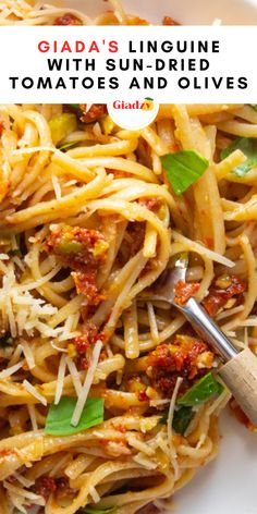 When it comes to busy weeknights, I rely heavily on recipes like this! For this recipe, I basically whip up sun-dried tomatoes, green olives, garlic, basil, lemon and olive oil in a food processor until it's a chunky pesto-like consistency. After that, voila – just toss with cooked pasta and Parmesan cheese for a super flavorful and quick dinner that requires almost no cooking.