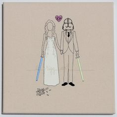 star wars bride groom wedding portrait