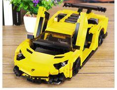 Creative MOC Technic Series The Yellow Flash Racing Car Building Blocks Toys - Blocks
