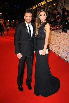 Peter Andre and girlfriend Emily MacDonagh arriving for the 2013 National Television Awards at the O2 Arena, London.