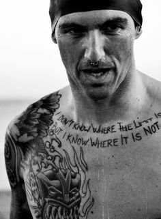 """Josef Ajram. Spanish tri-athlete, writer and broker. """"I don't know where the limit is, but I know were it is not""""."""
