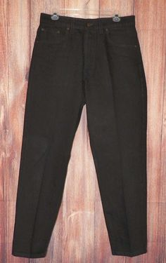 Levis 550 Mens Relaxed Fit Tapered Leg Cotton Black Jeans Sizes 33x30 NWOT  #Levis #Relaxed