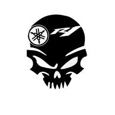 Yamaha R1 Skull Stickers (BLACK) Yamaha R1, Yamaha Logo, Motorcycle Stickers, Bike Stickers, Yamaha Super Bikes, Yzf R125, Bike Logo, Art Logo, Motorbikes