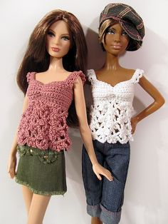 For Barbie {Site not in English} from Tops de ganchillo para Barbie