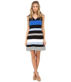 BAILEY44 BAILEY 44 - SAFETYNET DRESS (BLACK/WHITE/COBALT) WOMEN'S DRESS. #bailey44 #cloth #