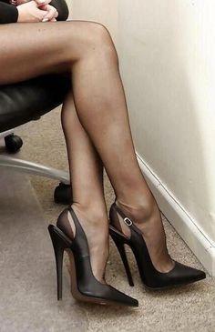Sexy Office Heels, Legs \u0026 Nylons