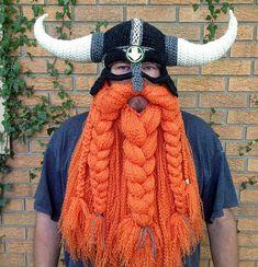 Viking Helmet And Beard Hat