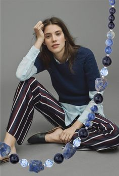 STYLISHY SMART! Ways to wear stripes and distinctive gemstone beads: There's no denying it's a tricky trend. But the secret lies in confidence!