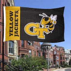 e70f8a0d8a0 Georgia Tech Yellow Jackets 3  x 5  Flag - Black