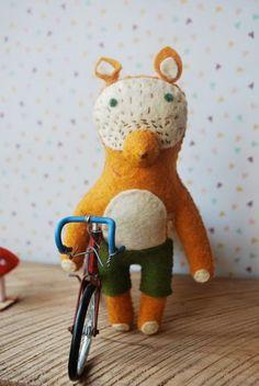 Fantastic Mr Fox jouet de feutre par Onceuponatimeforyou sur Etsy