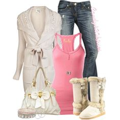pastel pink,I like this outfit and the boots and purse are below 50$ total steal  created by candy420kisses on Polyvore