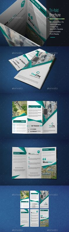 Trifold Bundle  Print Templates Brochures And Brochure Template