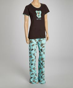 Look what I found on #zulily! Brown 'Wild Thing' Monkey Pajama Top - Women #zulilyfinds $10