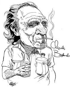 Charles Bukowski by morales