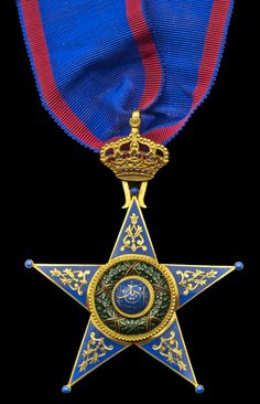 EGYPT, Kingdom - Order of Ismail, Commander´s neck Badge, by Lattes, Cairo, 78mm including crown suspension x 61mm, gold and enamel, maker's name and gold marks for 1924 to reverse of badge,