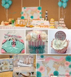 Travel Bridal Shower at Perpetually Daydreaming