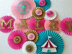 Hey, I found this really awesome Etsy listing at https://www.etsy.com/listing/242088660/carnival-themed-paper-fan-set-set-of-13