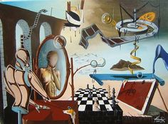 """Life Clishee"" - Oil on canvas - Mihai Adrian Raceanu  #art #painter #painting #surrealism"