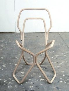 No. 7 Chair by Tomas Alonso. //lines geometric wood chair