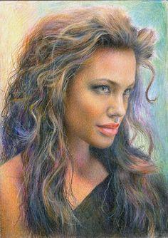 Angelina Jolie by onpumi on deviantART | First pinned to Celebrity Art board here... http://www.pinterest.com/fairbanksgrafix/celebrity-art/ #Drawing #Art #CelebrityArt