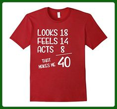 Mens Funny 1977 40th Years Old Birthday Gift T-Shirt XL Cranberry - Birthday shirts (*Amazon Partner-Link)