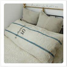 Grain sack pillows.