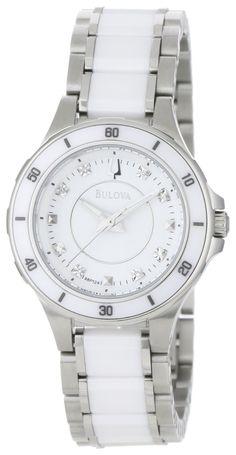 Reloj Bulova para Mujer de cerámica y acero | Antes: $1,200,000.00, HOY: $445,000.00