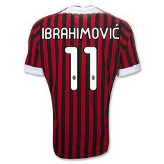 AC Milan 2011-2012 IBRAHIMOVIC Home Soccer Jersey 2a7bac43c