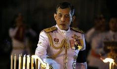 Thailand's Crown Prince Maha Vajiralongkorn mourning his father, the late King Bhumibol Adulyadej, at the Royal Plaza in Bangkok.