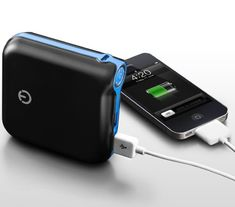 Portable Dual USB Port External Battery Charger/Power Pack for Smartphones, Tablets and more.  Need one of these for our next vacation when we are away from the hotel/car for long periods of time.