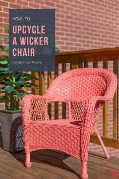 You Can Makeover Or Redo Your Indoor, Outdoor Or Balcony Wicker Furniture  By Painting It With Rust Oleum ...
