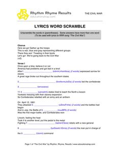 The President\'s Cabinet - Song with Free Worksheets and Activities ...